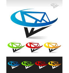 Swoosh mail logo icon vector
