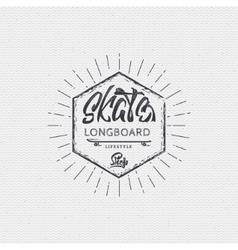 Skateboard - insignia badge label sign print vector image