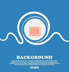 Tv sign blue and white abstract background flecked vector