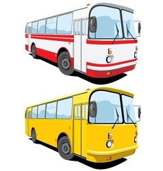 city bus vector image vector image