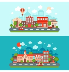 City scape set vector