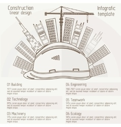 construction linear design vector image vector image