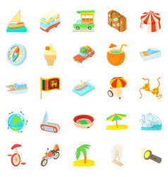 Courage icons set cartoon style vector