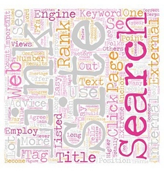 Crucial Factors In SEO text background wordcloud vector image