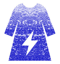 Electricity female dress textured icon vector