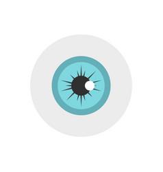 Eye icon flat style vector
