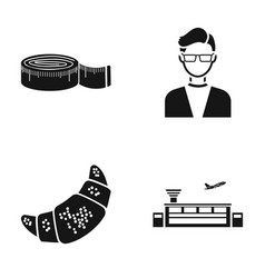 Fashion cooking and or web icon in black style vector