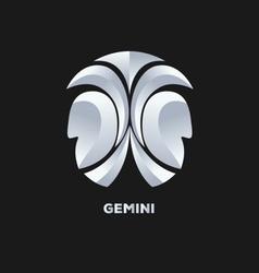 Gemini horoscope icon vector