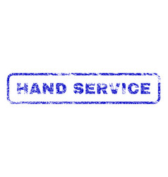 Hand service rubber stamp vector