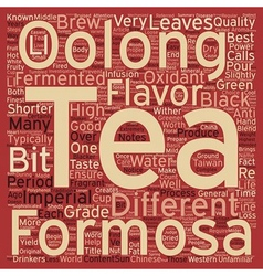 How is imperial formosa oolong different from vector