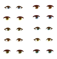 Human eye set vector image