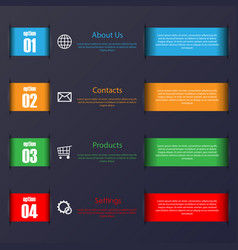 infographic stripes set vector image