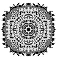 Mandala for coloring book vector image