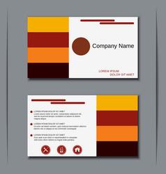 Modern visiting card design vector image vector image