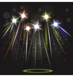 Neon spotlight background vector