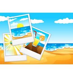 Photos at the beach vector