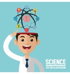 Science design Colorfull Cartoon vector image vector image