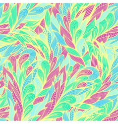 Seamless floral pattern with abstract feathers vector