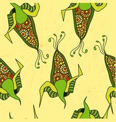 seamless pattern of decorative corn vector image