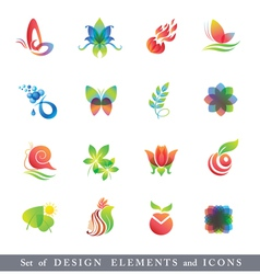Set of Design Elements and Icons vector image vector image