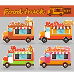 Set of food truck vector image vector image
