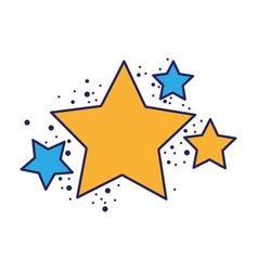 shiny stars space glitter design vector image vector image