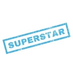 Superstar Rubber Stamp vector image vector image
