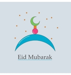 symbol of the Muslim Eid Mubarak vector image