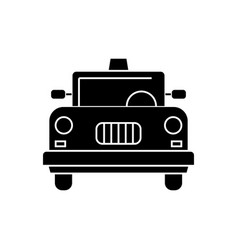 taxi icon black sign on vector image