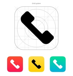 Telephone receiver icon answer the call vector