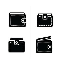 Wallet set icon 4 design vector