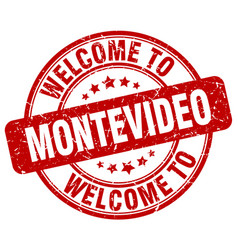 welcome to montevideo vector image