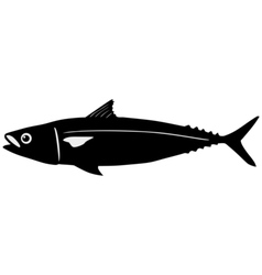 Silhouette of mackerel vector image