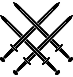 Knot from medieval swords vector