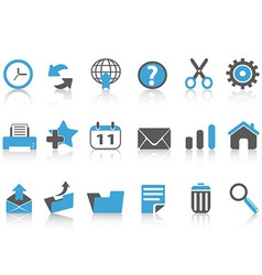Toolbar icons setblue series vector
