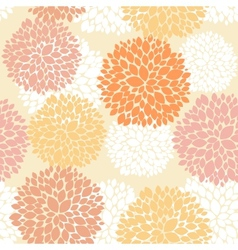 Cute unique floral autumn pattern vector image