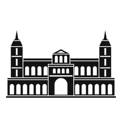 Castle icon simple style vector