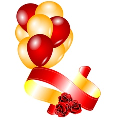 roses and balloons vector image