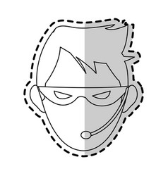 hacker representation icon image vector image