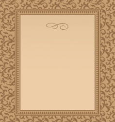 swirl pattern and frame vector image