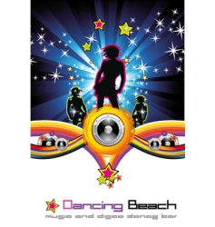 Dancing night background vector