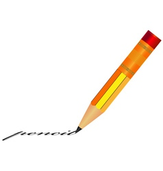 Pencil with eraser vector