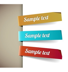 Set of paper tags retro colors vector image