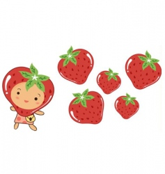 Strawberry ornament vector