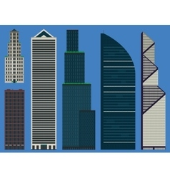 Buildings set with business skyscrapers vector