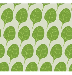 Spinach background seamless pattern from green vector