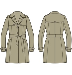 Trench coat vector