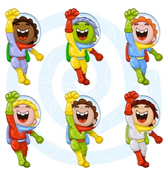 Cartoon astronauts vector