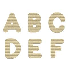 Embossed cardboard letters vector