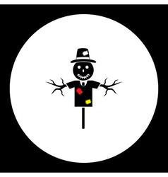 Black scarecrow farm bogey isolated black icon vector